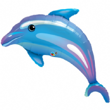 Dolphin Blue Large Foil Balloon 1pc